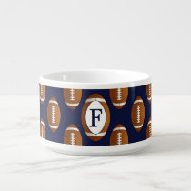 Personalized Monogram Football Balls Sports Bowl