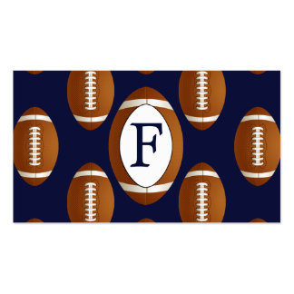 Personalized Monogram Football Balls Sports Double-Sided Standard Business Cards (Pack Of 100)