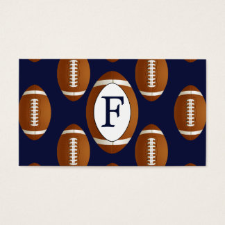 Personalized Monogram Football Balls Sports Business Card