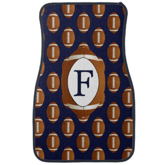 Personalized Monogram Football Balls Sports Car Floor Mat
