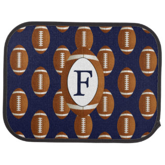 Personalized Monogram Football Balls Sports Car Mat