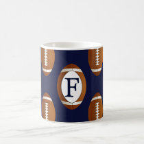 Personalized Monogram Football Balls Sports Coffee Mug