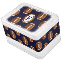 Personalized Monogram Football Balls Sports Cooler