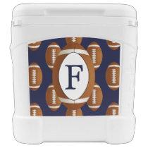 Personalized Monogram Football Balls Sports Cooler