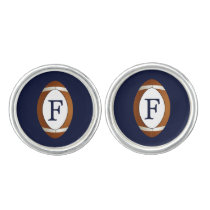 Personalized Monogram Football Balls Sports Cufflinks