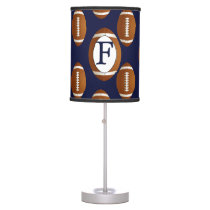 Personalized Monogram Football Balls Sports Desk Lamp