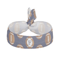 Personalized Monogram Football Balls Sports Elastic Hair Tie