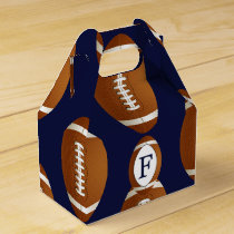 Personalized Monogram Football Balls Sports Favor Box