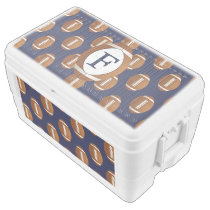 Personalized Monogram Football Balls Sports Ice Chest