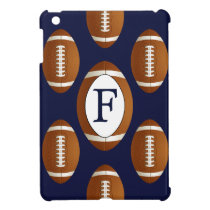 Personalized Monogram Football Balls Sports iPad Mini Cover