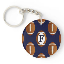 Personalized Monogram Football Balls Sports Keychain