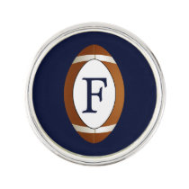 Personalized Monogram Football Balls Sports Lapel Pin
