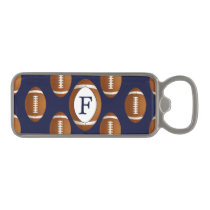 Personalized Monogram Football Balls Sports Magnetic Bottle Opener