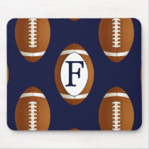 Personalized Monogram Football Balls Sports Mouse Pad