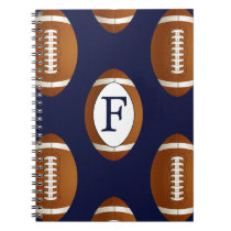 Personalized Monogram Football Balls Sports Notebook