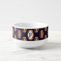 Personalized Monogram Football Balls Sports Soup Mug