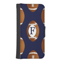 Personalized Monogram Football Balls Sports Wallet Phone Case For iPhone SE/5/5s