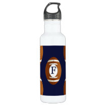 Personalized Monogram Football Balls Sports Water Bottle