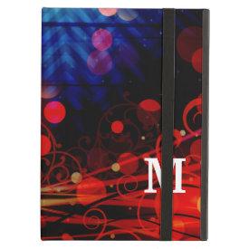 Personalized Monogram Funky Light Rays Abstract iPad Folio Case