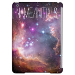 Personalized Monogram Galactic Outer Space Purple iPad Air Covers