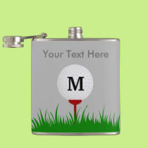 Personalized Monogram Golf Ball Flask