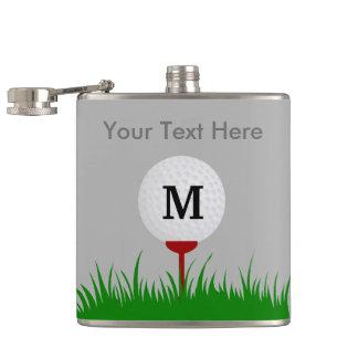Personalized Monogram Golf Ball Flask