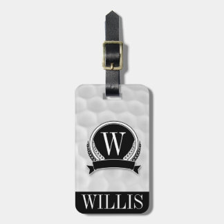 Personalized Monogram Golf Ball Luggage Tag Tag For Bags