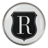 Personalized monogram golf ball marker coins