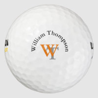 personalized monogram golf balls