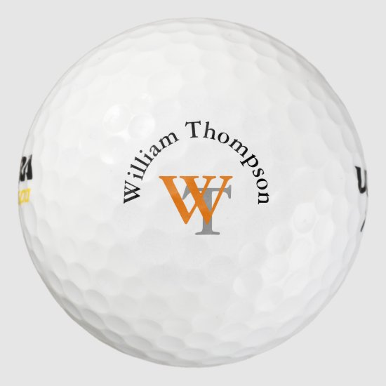 personalized monogram golf balls