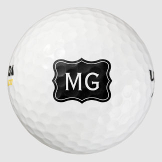 Personalized monogram golf balls for avid golfers