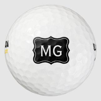 Personalized monogram golf balls for avid golfers
