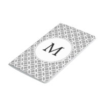 Personalized Monogram Gray rings pattern Journal
