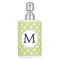 Personalized Monogram green double rings pattern Bath Set