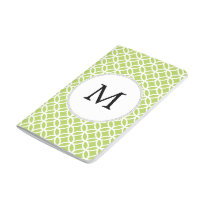 Personalized Monogram green double rings pattern Journal