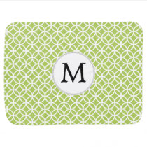 Personalized Monogram green double rings pattern Swaddle Blanket