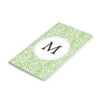 Personalized Monogram Green Zebra Stripes pattern Journal