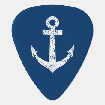 Personalized Monogram Guitar Pick With Boat Anchor by logotees at Zazzle