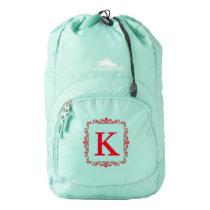 Personalized Monogram High Sierra Backpack, Black Backpack