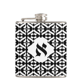 PERSONALIZED MONOGRAM HIP FLAKS ALEPH 1 FLASKS
