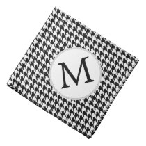 Personalized Monogram Houndstooth Pattern in Black Bandana