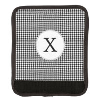 Personalized Monogram Houndstooth Pattern in Black Handle Wrap