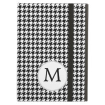 Personalized Monogram Houndstooth Pattern in Black iPad Air Cases