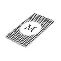 Personalized Monogram Houndstooth Pattern in Black Journal