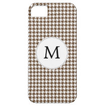 Personalized Monogram Houndstooth Pattern in Brown iPhone SE/5/5s Case