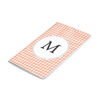 Personalized Monogram Houndstooth Pattern in Coral Journal
