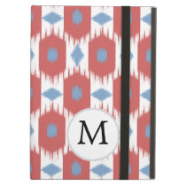 personalized monogram Ikat red and blue Case For iPad Air