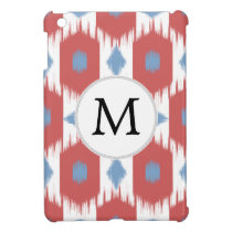 personalized monogram Ikat red and blue iPad Mini Covers