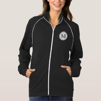 Personalized monogram in black and white jacket