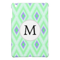 personalized monogram in Ikat  mint purple iPad Mini Case